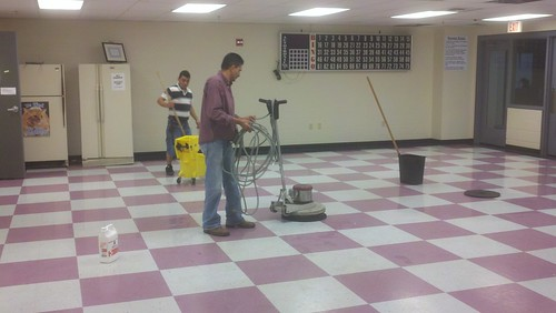 Floor Stripping and Rewaxing in Frederick Md