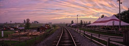 usa paradise unitedstates pennsylvania panoramas sunsets pa strasburgrailroad lancastercounty railways stitched hdr goldenhour railroads panoramics cherrycrestfarm lanco ronks paradisetownship moocards