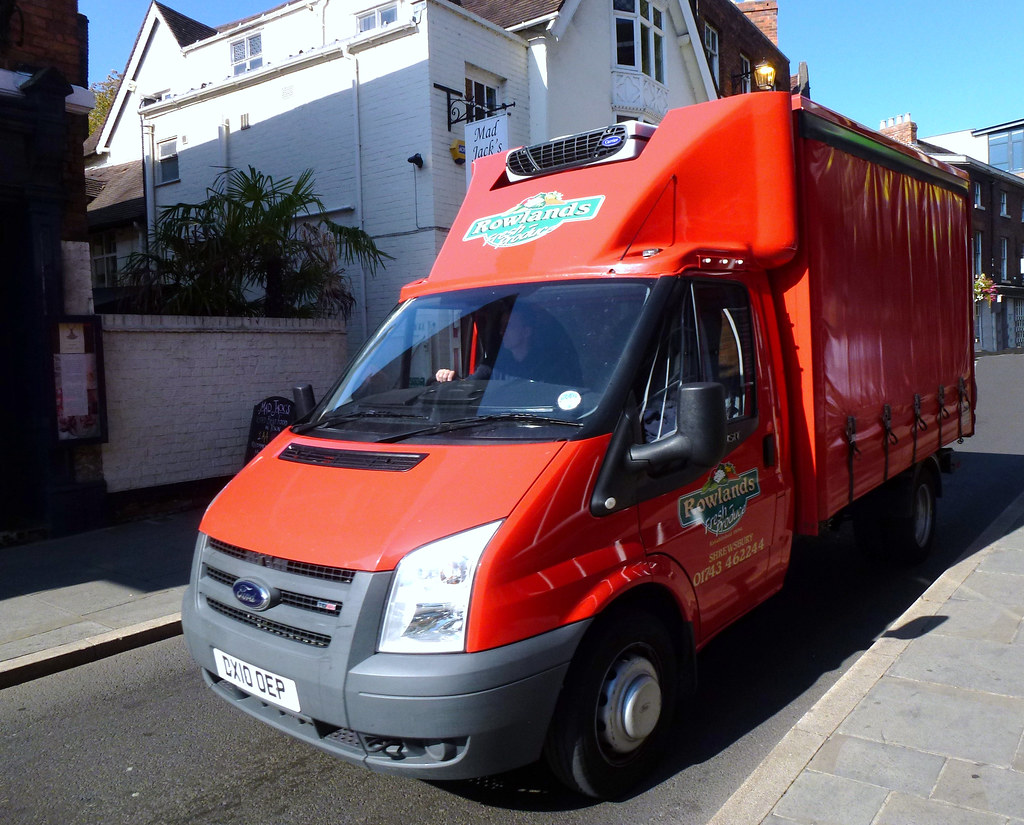 Ford Transit 350 MWB - Curtain Sider - Rowlands Fresh Produce - 2010 - 2400cc - DX10OEP