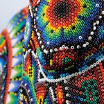 The Huichol Art with PRECIOSA seed beads (Rooster)