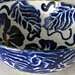 Small photo of Salad Bowl with cobalt design.