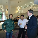 Customer reception with Team Lotus drivers