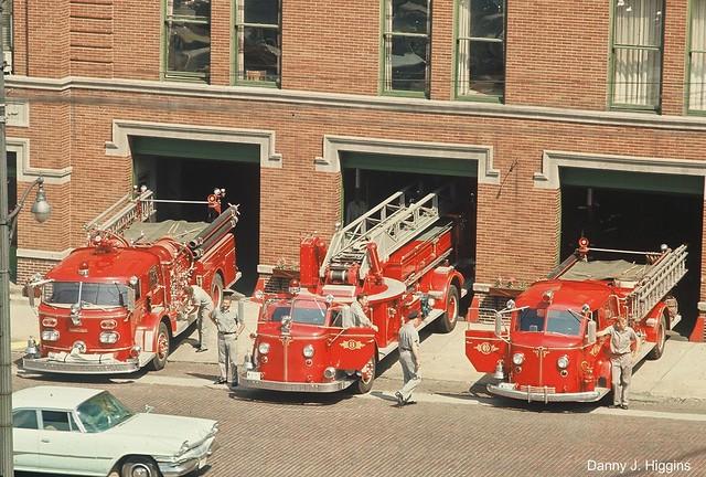 Dixon, Illinois Fire Trucks.