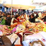 Feria de telas en Puertoel Pireo