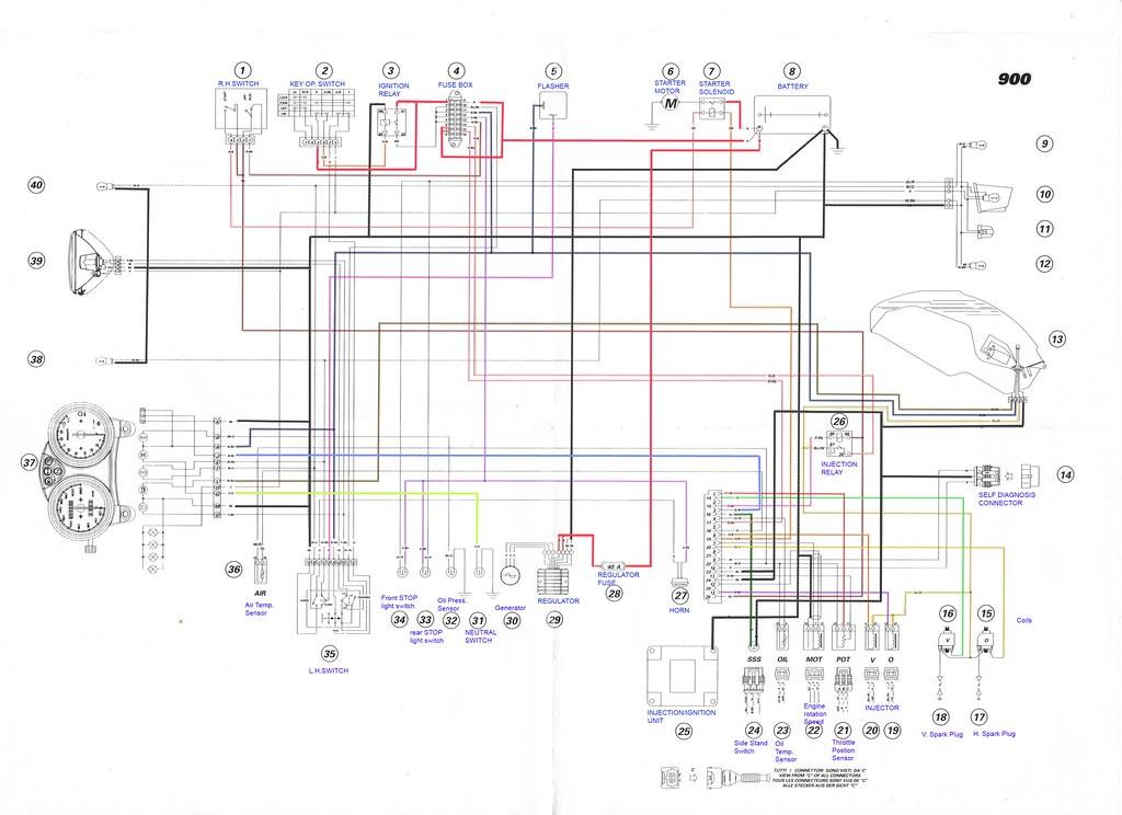 Ducati Wiring Schematics Ducati Free Wiring Diagrams - Ducati 1098r wiring harness