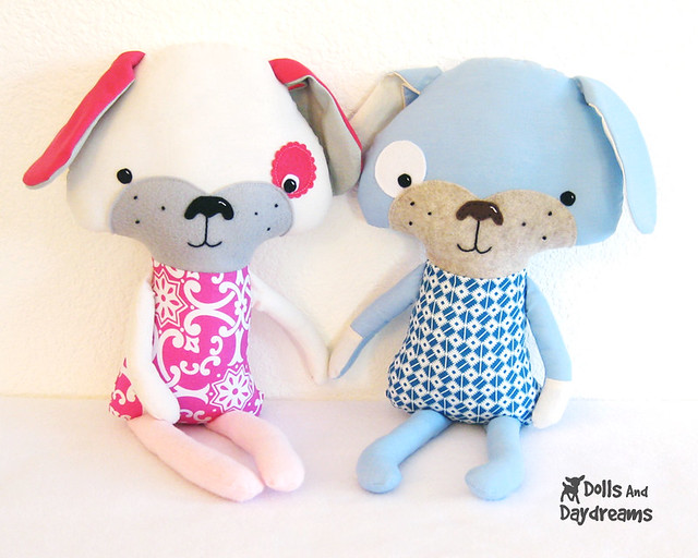 Free Sewing Pattern for Stuffed Dog Toy
