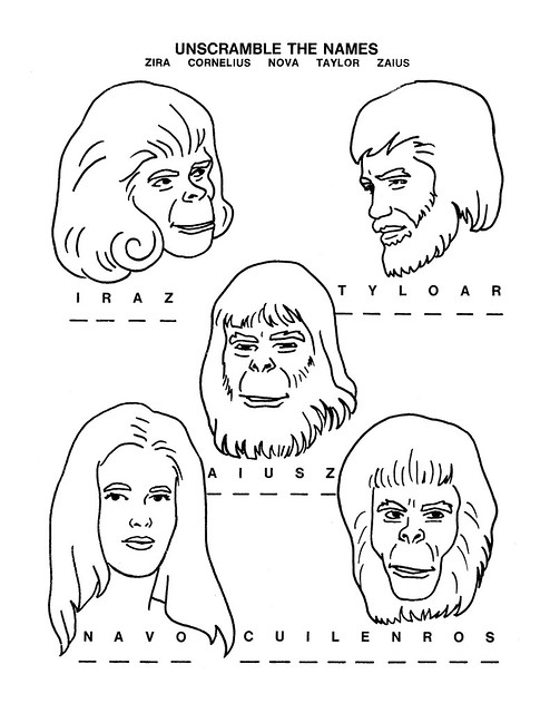 Planet of the Apes Activity Book 0100011