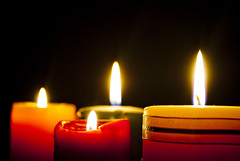 candle, light, flame,