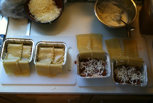 Tiny lasagna assembly line