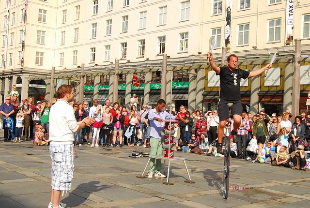 Espectáculo callejero en Bergen
