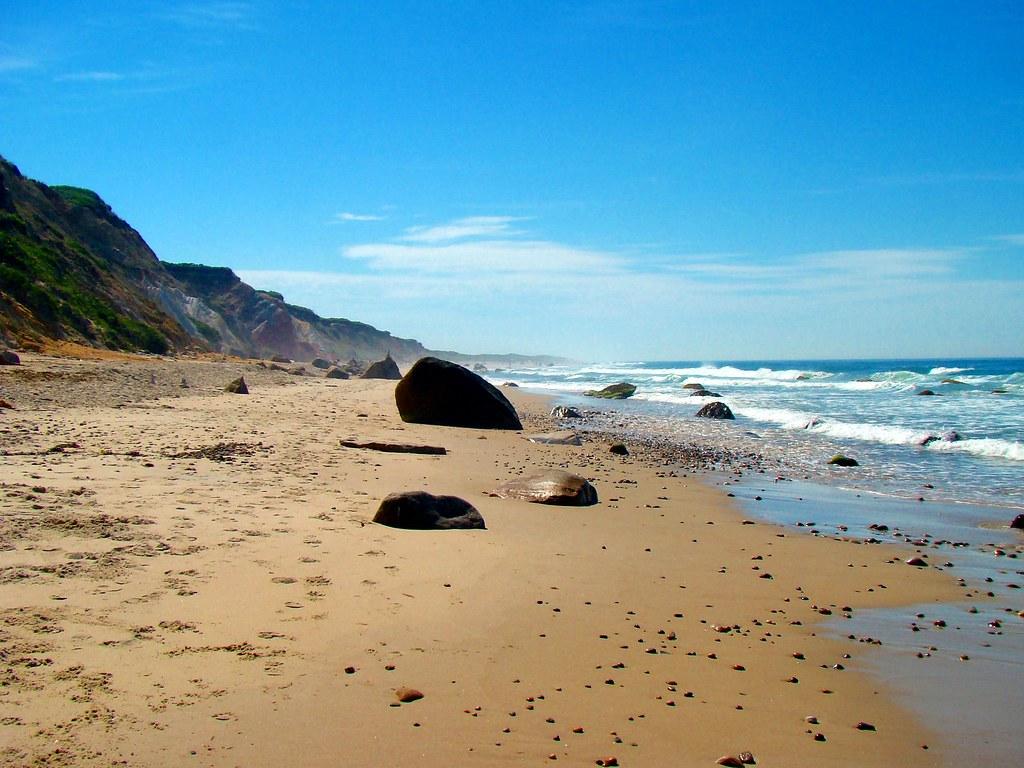пляж Moshup