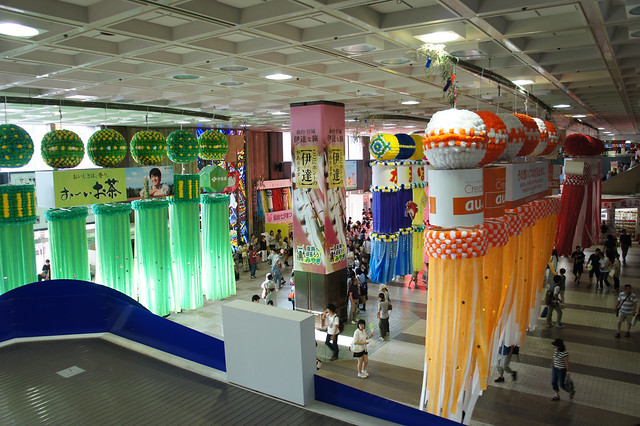Sendai station in the season of tanabata
