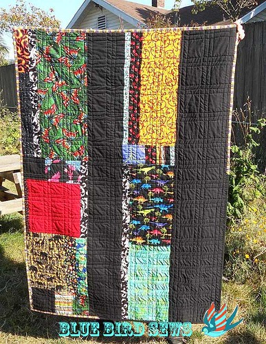 Back of Shrinking Squares Quilt