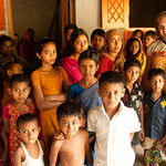 Audrey With Children of Acholcot Village - Bangladesh