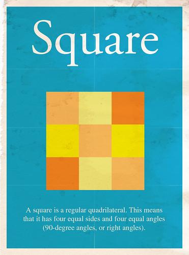 Minimalist poster: Square