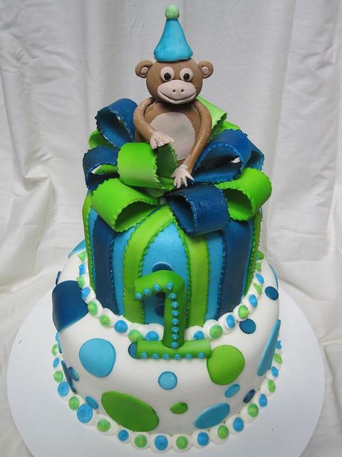 First birthday boy cake  Flickr - Photo Sharing!