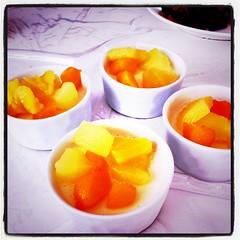 朝凍りフルーツプリンだそうだ