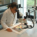 July 11, 2011 - 11:32am - Examination is often done with a high-powered binocular microscope, used to detect issues such as possible flaking paint on this Indian miniature painting.