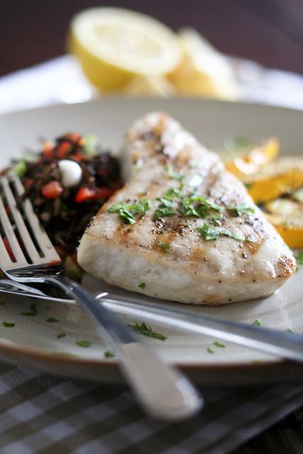 Grilled blue marlin steak 5 flickr photo sharing for Marlin fish recipes