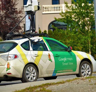 Caught in the Act - Google Street View Car! +1 in comments
