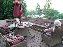 backyard, outdoor structure, furniture, property, yard, deck, patio,