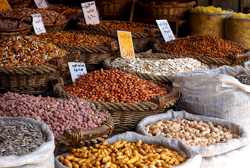 Abundance of legumes and nuts