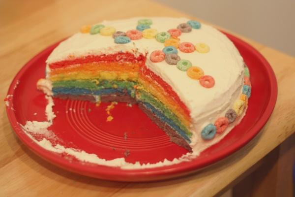 Rainbow Cake, 5