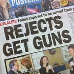 Rejects get guns!!! Shock horror scare #tabloid #headline