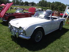 automobile, vehicle, triumph tr250, triumph tr5, triumph tr4, antique car, classic car, vintage car, land vehicle, convertible, sports car,