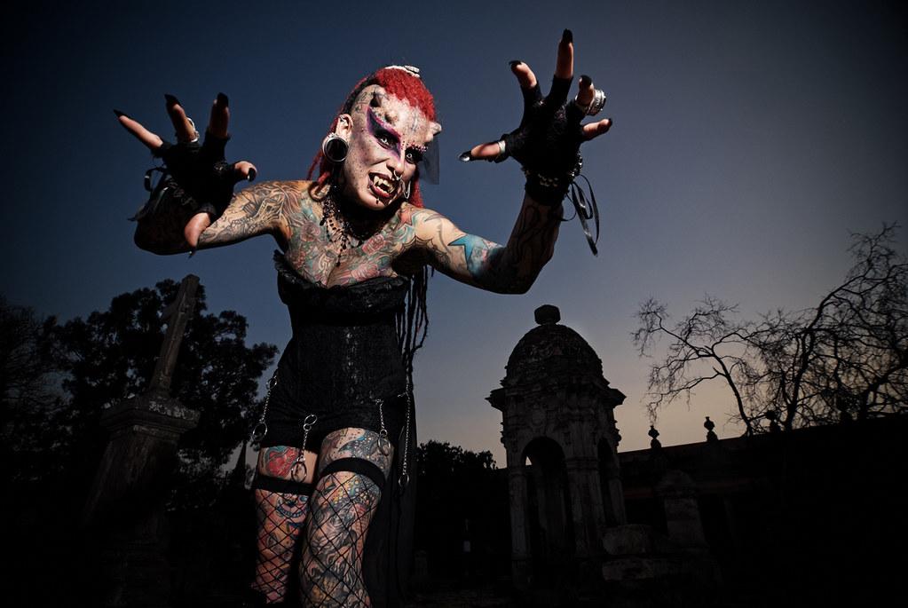 Maria Cristerna: The Mexican 'VJ' Vampire in Vienna, Austria