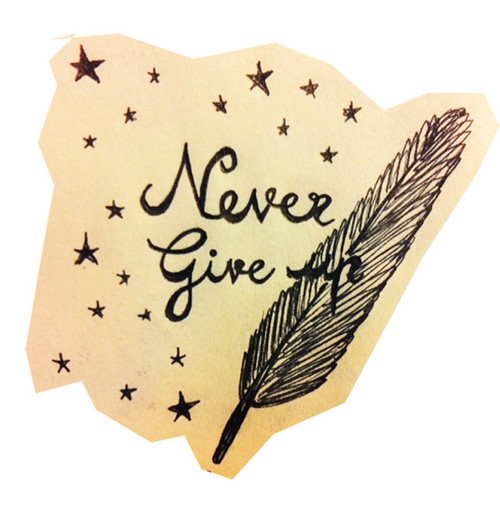 Never Give Up TattooNever Give Up Tattoo