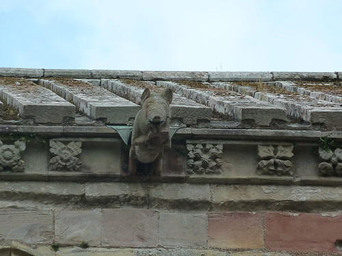 Effigy of Pig Playing Bagpipes, Melrose Abbey