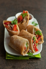 taquito, sandwich wrap, lumpia, meat, egg roll, spring roll, food, dish, cuisine, burrito,