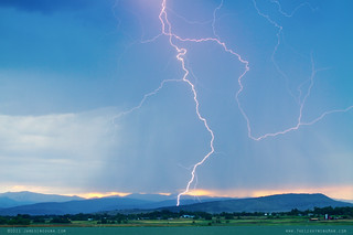 Photo éclair orage Rocky Mountain Front Range Foothills