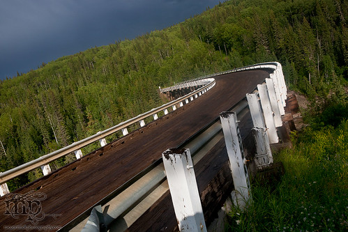 Kiskatenaw Curved Wooden Bridge, Alaska Highway [1 of 3]