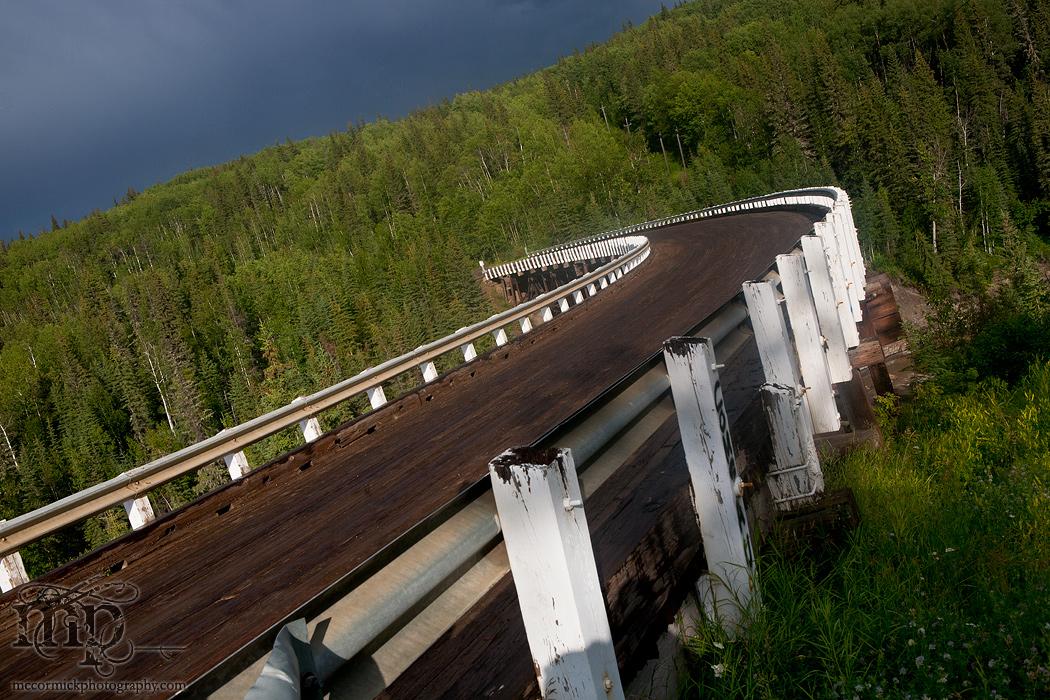 Kiskatenaw Curved Wooden Bridge, Alaska Highway [1 of 3]