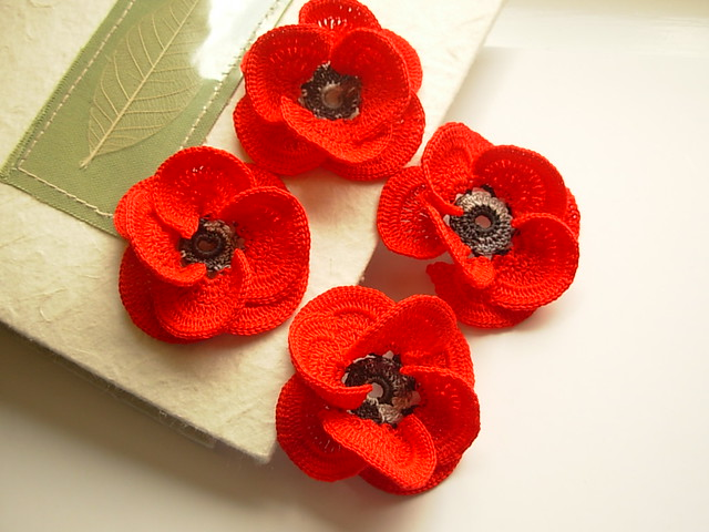 Knitting Pattern Red Poppies : 5999480635_ff7982a52a_z.jpg