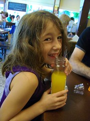 Madeline having some OJ (Powell's Books)
