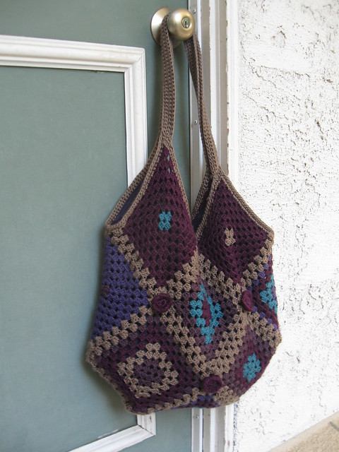 Crochet Granny Square Bag Flickr - Photo Sharing!