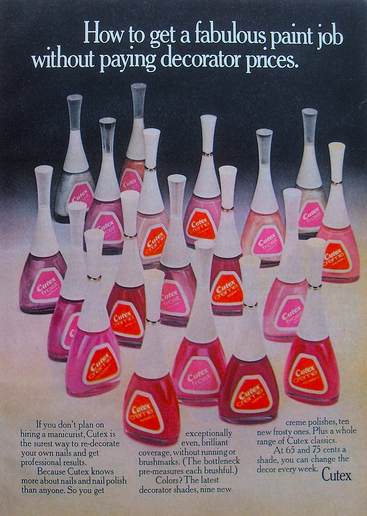 1960s Vintage Cutex Nail Polish Advertisement