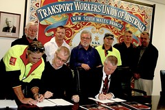 TWU-Linfox Agreement Signing Ceremony - Witnessed and Signed by Linfox delegates