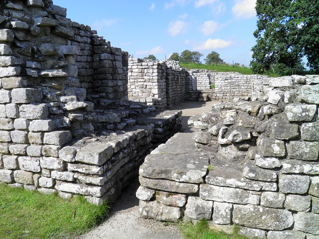 The Bath-House, view to the boiler, warm and hot rooms, Chesters Roman Fort