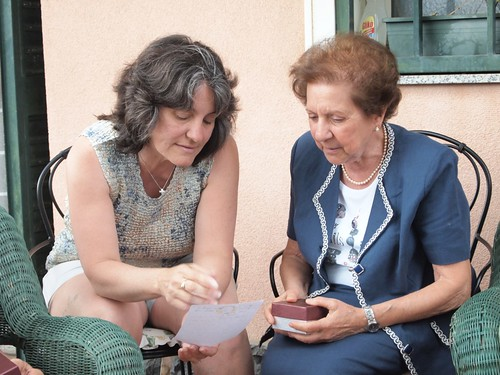 Rosanne and Graziella read Mary's letter
