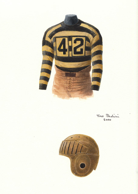 Pittsburgh Steelers 1934 uniform artwork