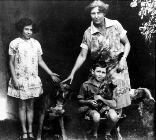 doris Lessing with her mother& brother