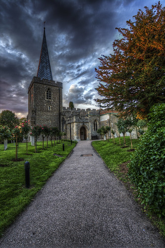 uk sunset england church unitedkingdom stevenage hdr stnicholaschurch canon1022 tonemapped canon450d chesfield