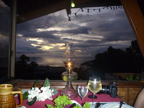 fall dinner table candle wine may safari le belvedere tahiti 2011