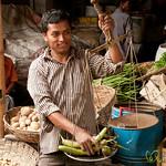 Selling Aubergine at Srimongal Market - Bangladesh