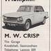 M.W. Crisp, Knodishall Triumph ad 1969