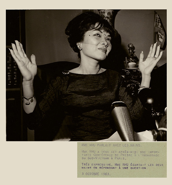 Mme Nhu parlait avec les mains, photo presse 1963